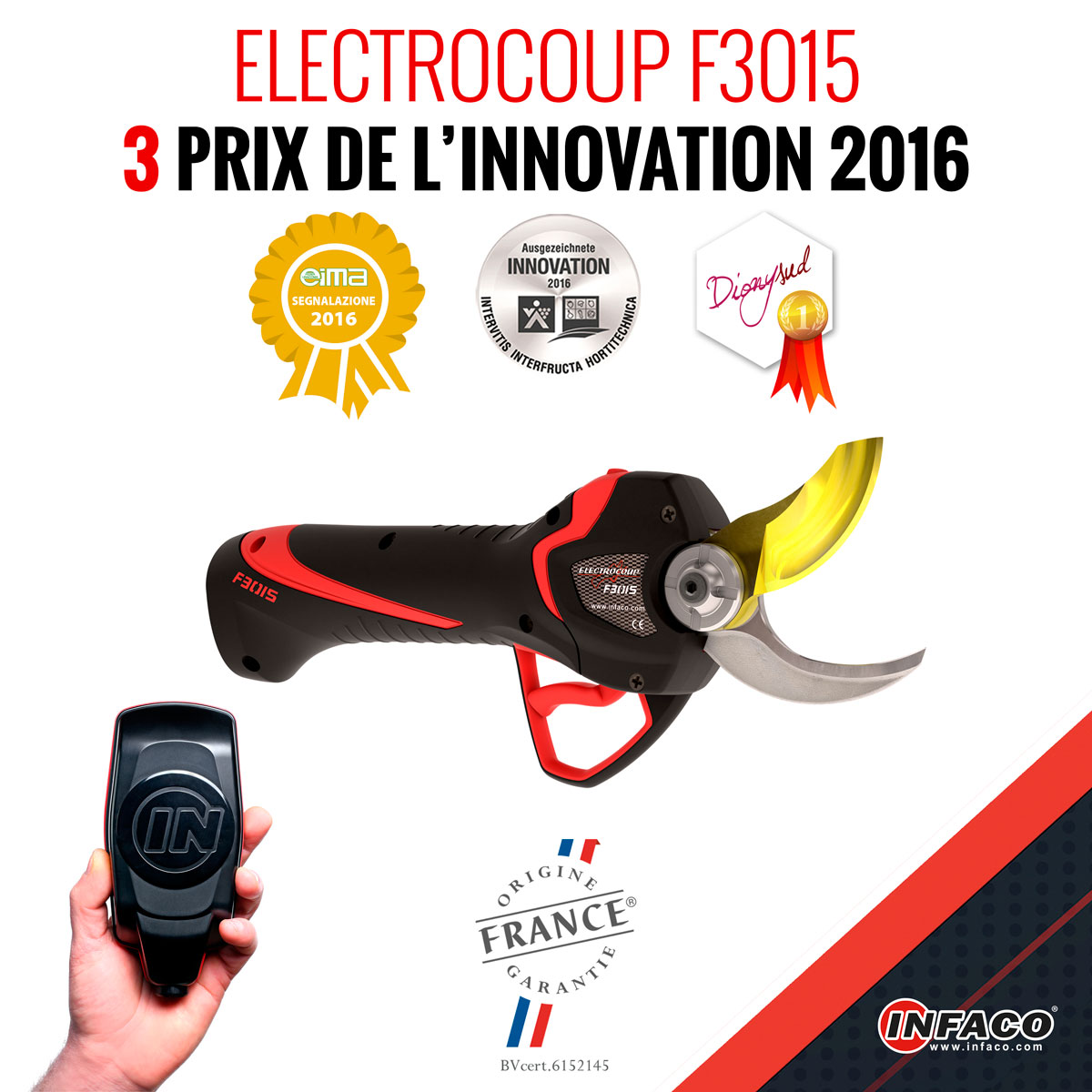 secateur electrocup infaco f3015 prix innovations 2016