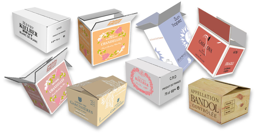 Caisses 6 ou 12 bouteilles for Des cartons pour demenager