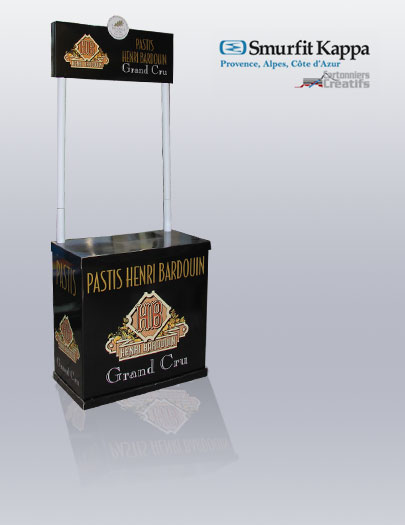 Stand de d gustation pastis carton for Stand de degustation